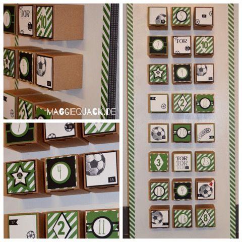 adventskalender selber machen 6 ideen f r die familie adventskalender fu ball und. Black Bedroom Furniture Sets. Home Design Ideas