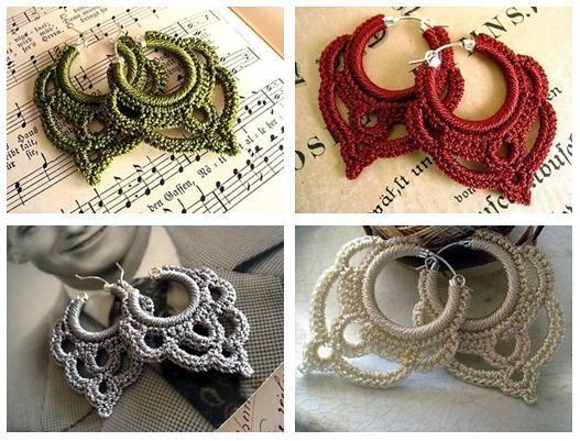 patrons mod les gratuits des bijoux au crochet bijoux faits main crochet accessories. Black Bedroom Furniture Sets. Home Design Ideas