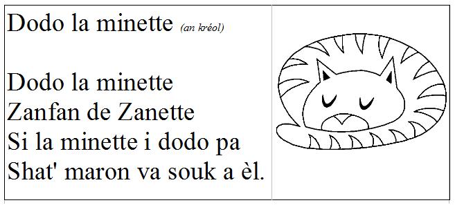 Dodo La Minette Comptine Traditionnelle Creole Reunionnais