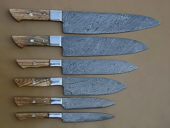 Damascus Steel Kitchen Chef Knife Set 6 Piece By Worldpoints