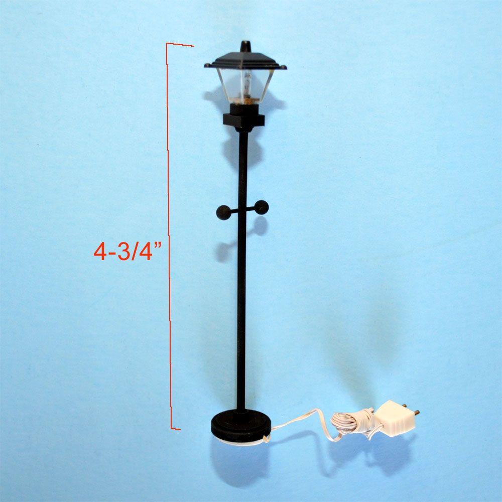 Clearance Sale Black Street Lamp 12v Dollhouse Miniature 1 24 Scale Light Natal Magico Casinha Boneca Bonecas