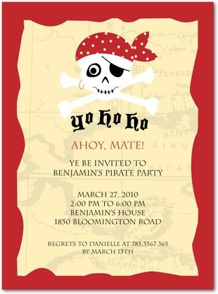 Pirate party invitation birthday ideas pinterest party pirate party invitation stopboris Images