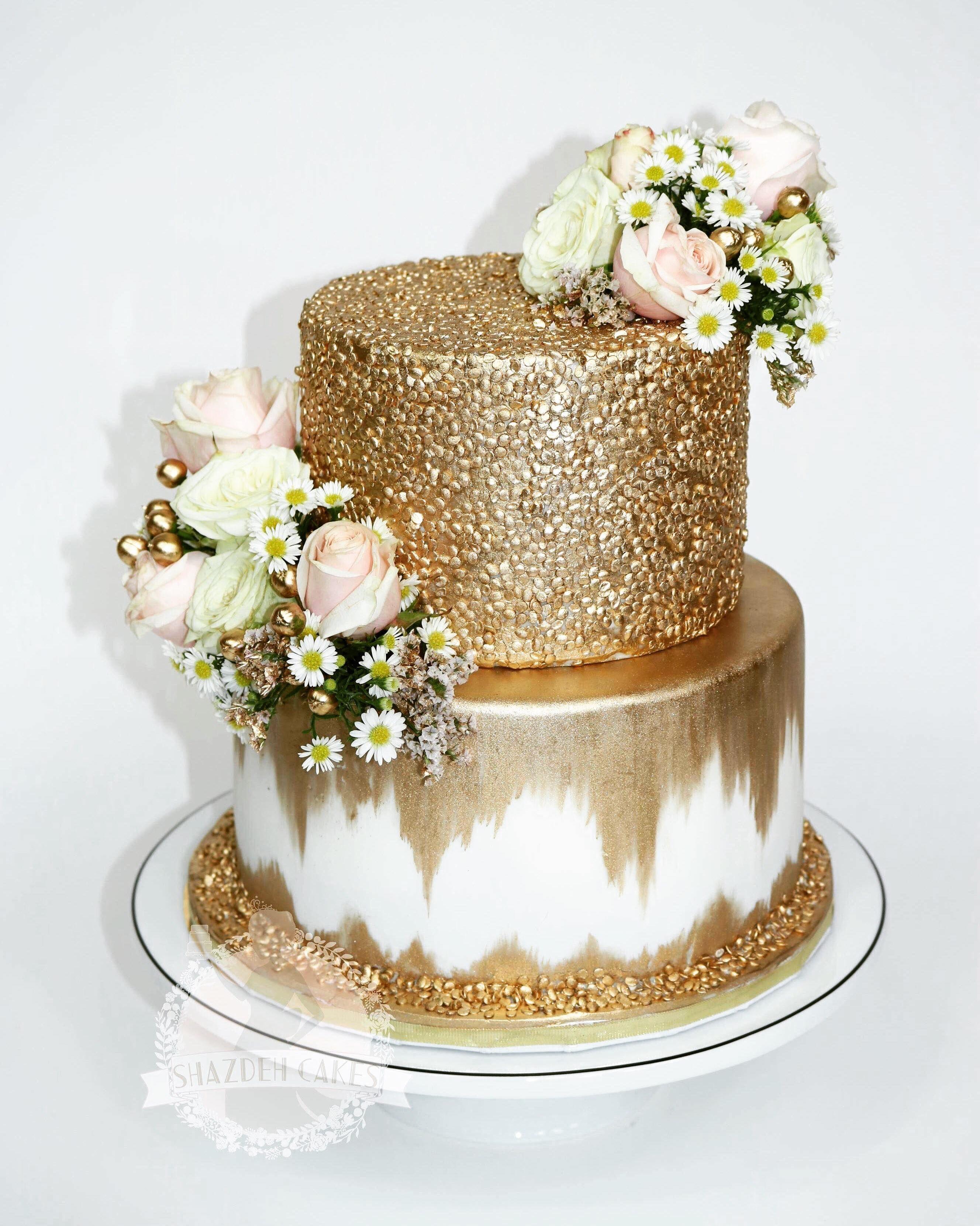 Super Gold Wedding Cake Glam Cake Sequins Wedding Cake With Images Funny Birthday Cards Online Necthendildamsfinfo
