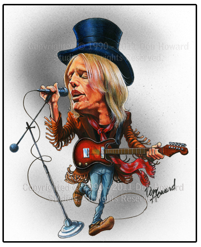 Don Howard Tom Petty Celebrity Caricatures