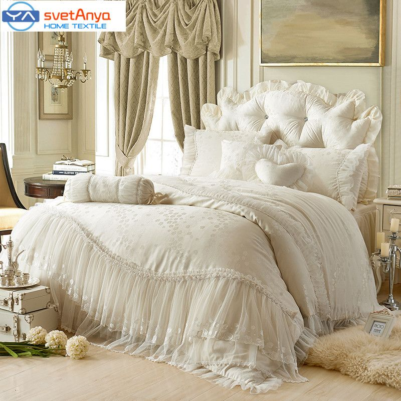 princess lacecotton luxury bedding sets queen king size