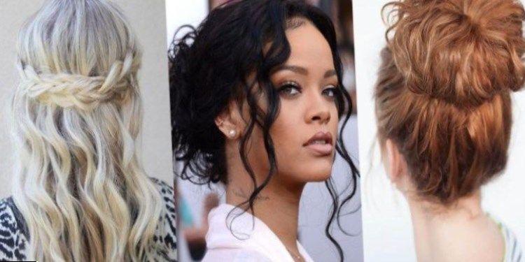 Model de coiffure cheveux boucles