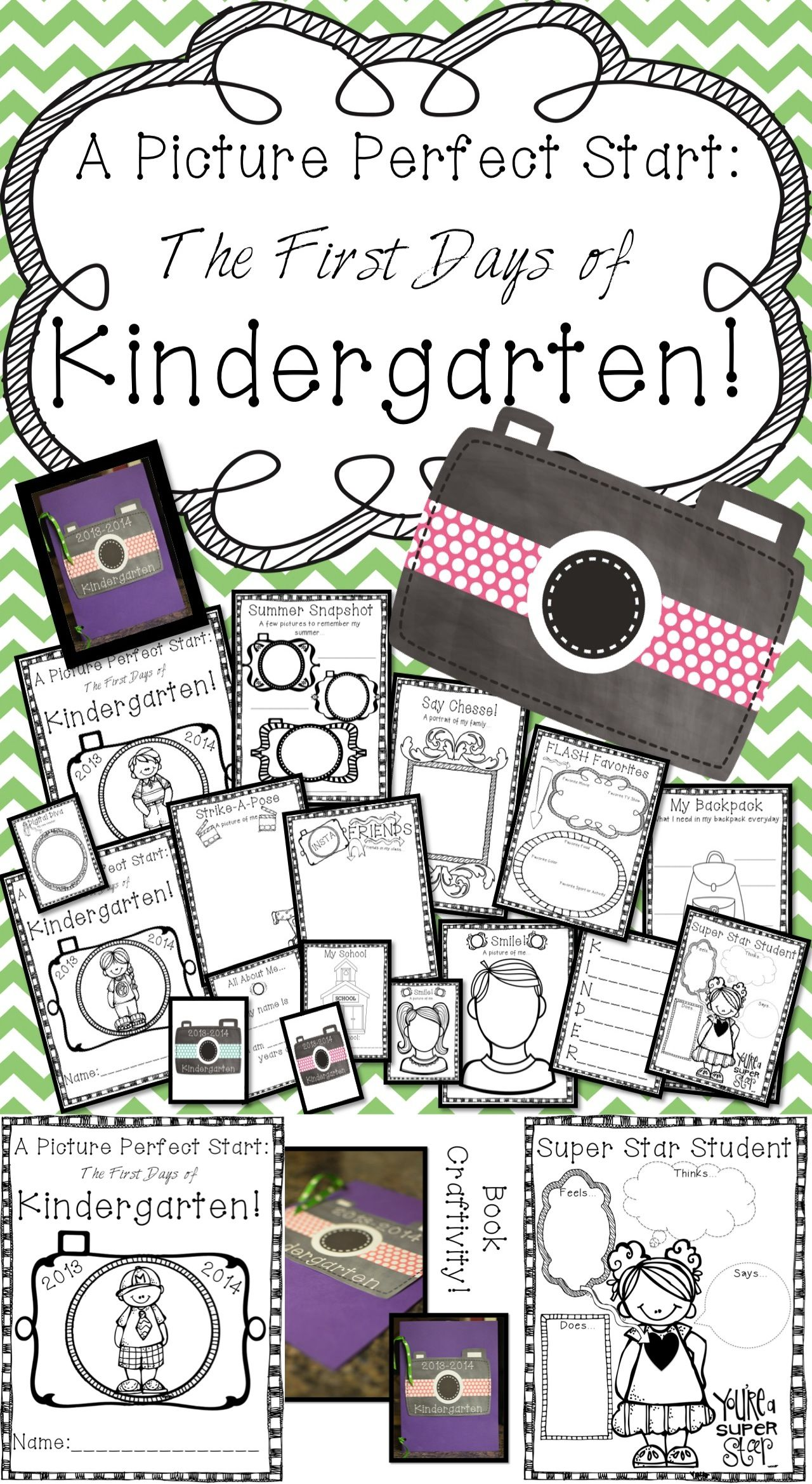 Picture Perfect Start Kindergarten Back To School Book Printables