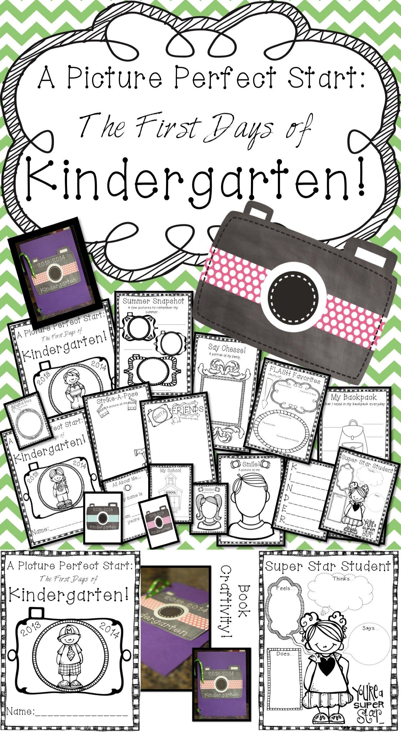 Picture Perfect Start Kindergarten Back To School Book Printables