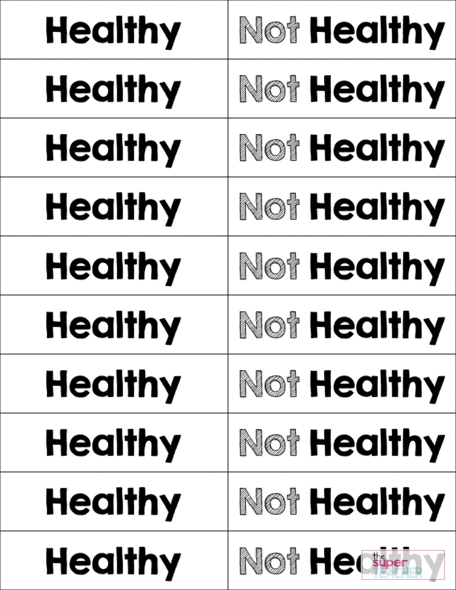 Healthy Foods Posters Worksheets And Activities With