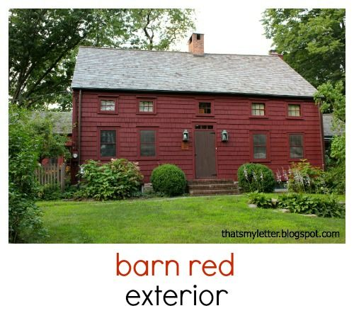 That S My Letter R Is For Red Paint No More Red Houses House Paint Exterior Red Barns