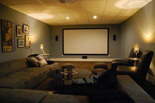 Media Room With Sectional Sofa Would Love To Turn My Garage Into