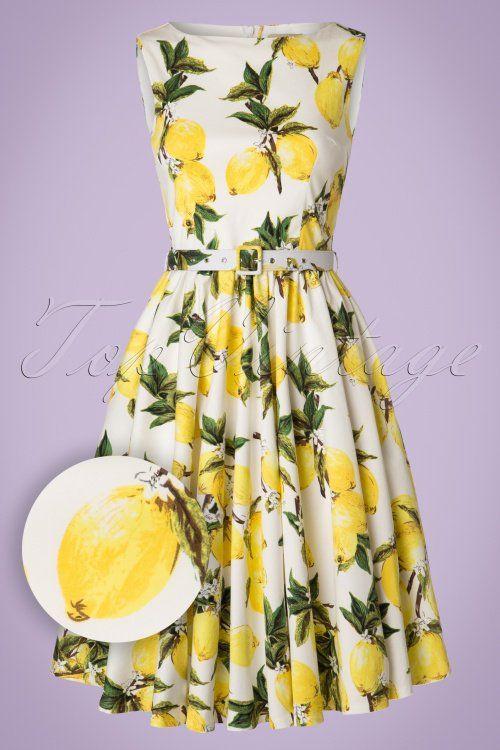 625949072cd6f9 Lindy Bop Audrey Lemon Print Swing Dress 102 59 21213 20170301 0017W1