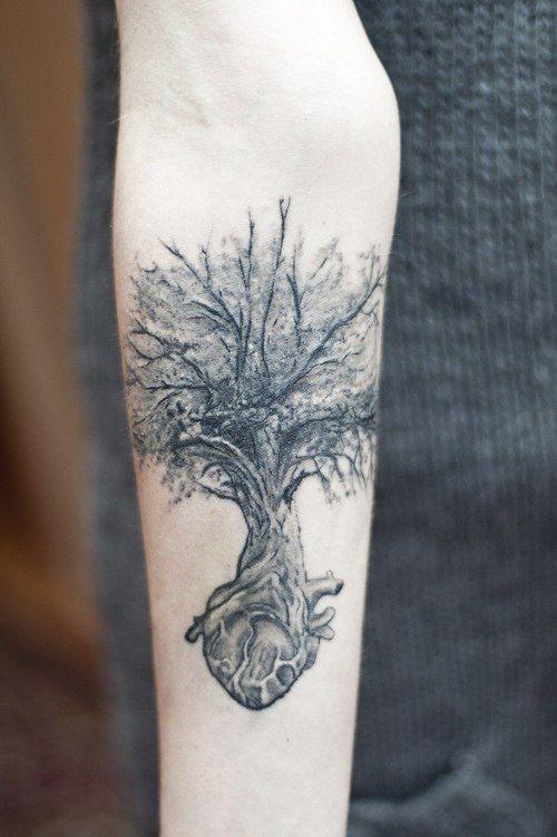 tree on heart tattoo | Tattoos | Pinterest | Tattoo, Tatting and ...