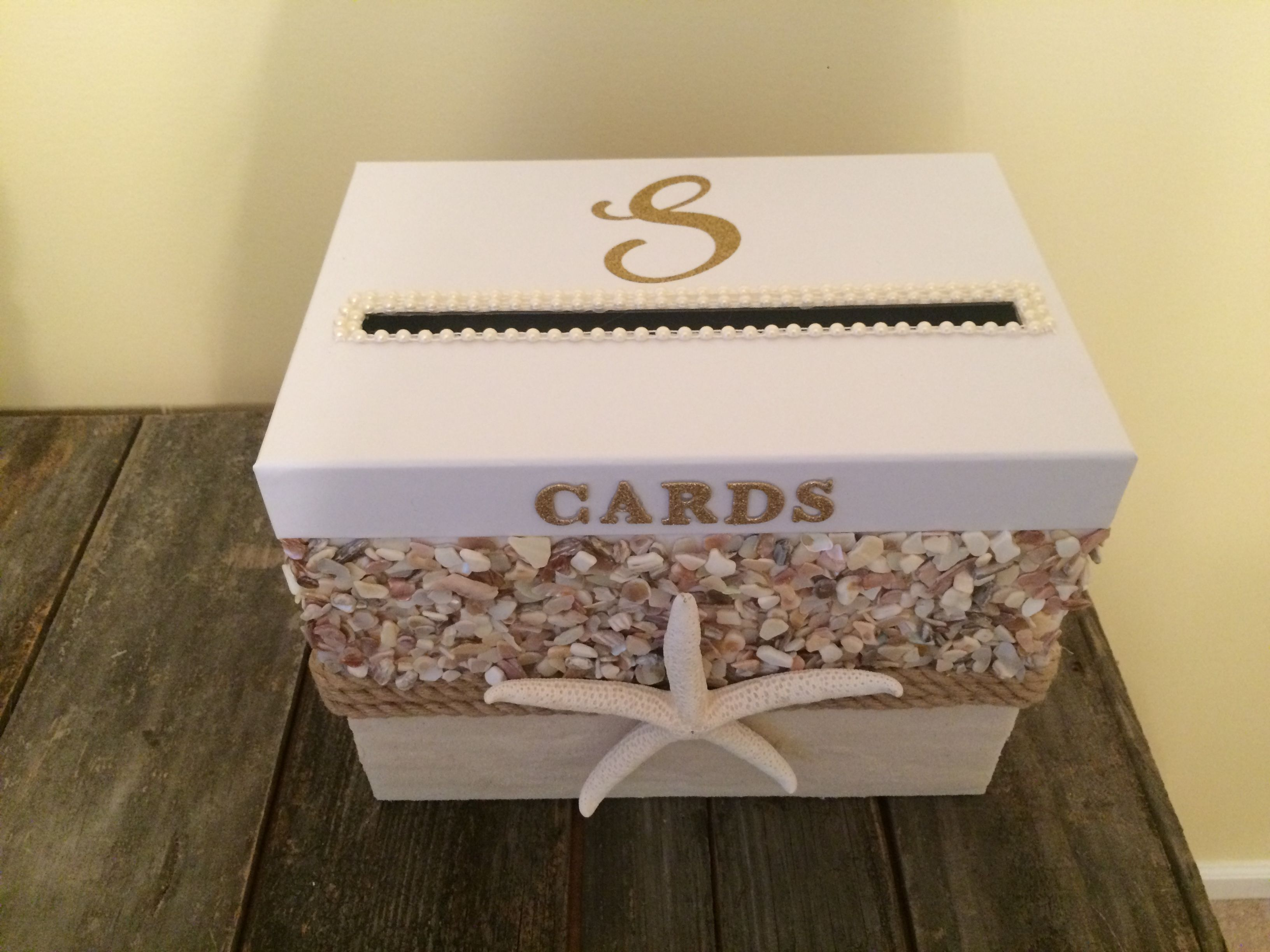 Beach Theme Wedding Card Box