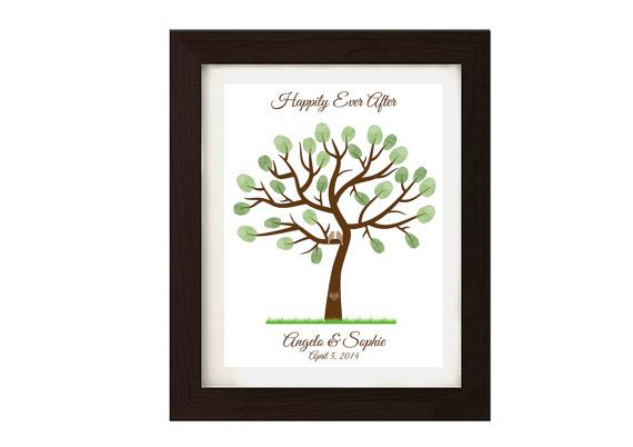 Guestbook wedding fingerprint tree  Digital by SophiesLoveBirds
