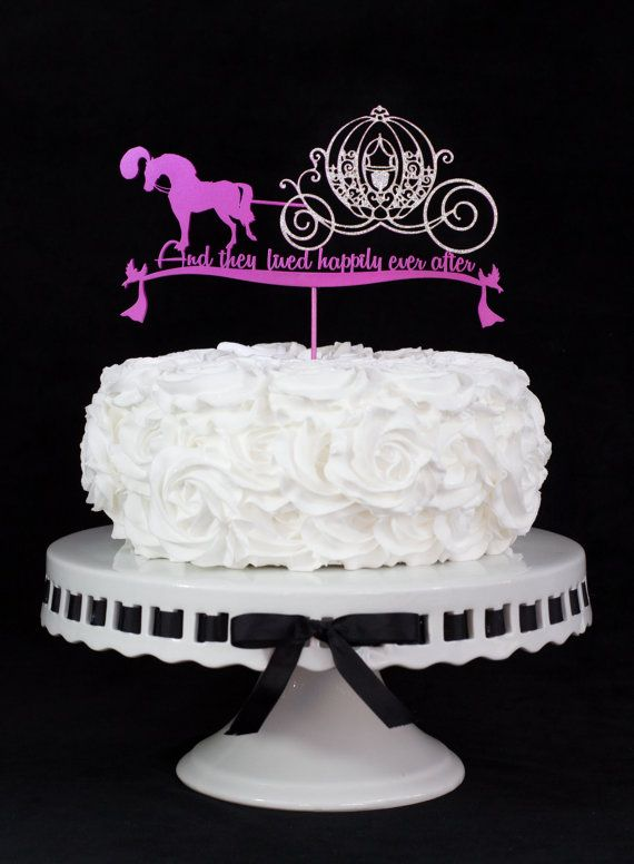 Horse Carriage Fairy Tale Wedding Cake Topper By Cakesparkle 49 00