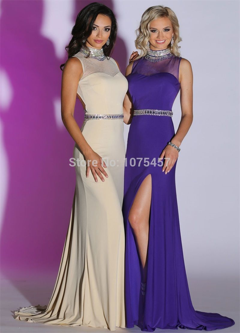 Click to buy ucuc latest design sexy backless prom dresses halter