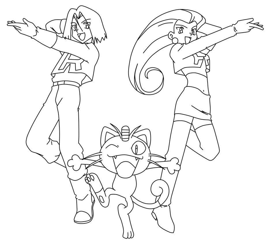Image Result For James Team Rocket Coloring Team Rocket Coloring Pages Pokemon Coloring