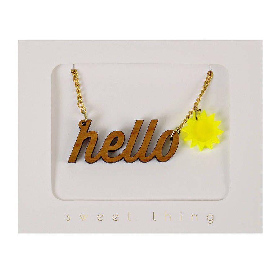 For summer box hello sunshine acrylic sweet thing