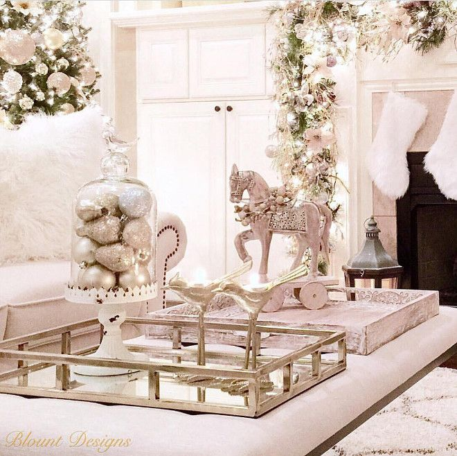 Christmas Coffee Table Decor The Coffee Table Is Decorated But The Trays Still Allo Christmas Coffee Table Decor Christmas Interiors Christmas Interior Design