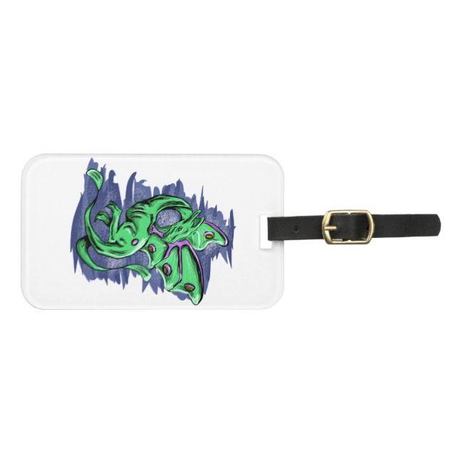Delicate Dragon Luna Moth Bag Tag