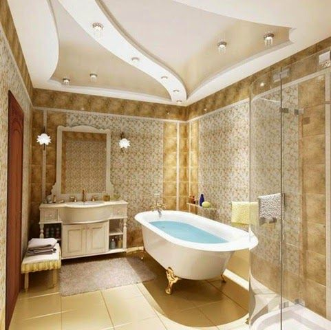 Latest Tips For False Ceiling Designs For Bathroom Interior, Bathroom  Stretch Ceiling