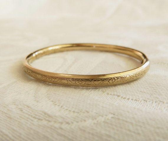 Baby Bangle Bracelet Gold Filled Vintage by VintageVogueTreasure