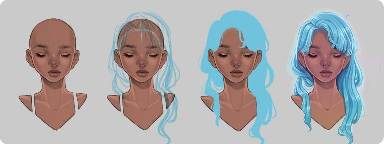 How To Draw Hair Step By Step With Downloadable Pdf Girls Art