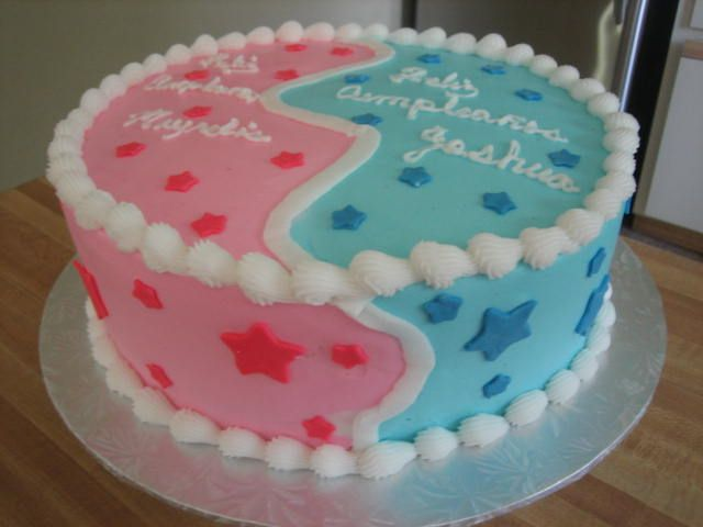 boy girl cake this cake is bc frosting stars are mm fondant my on birthday cake for boy and girl