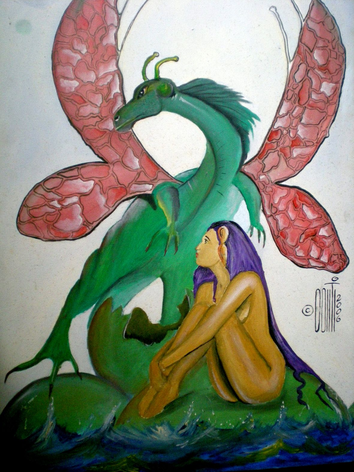 Filha do Dragão - óleo sobre tela