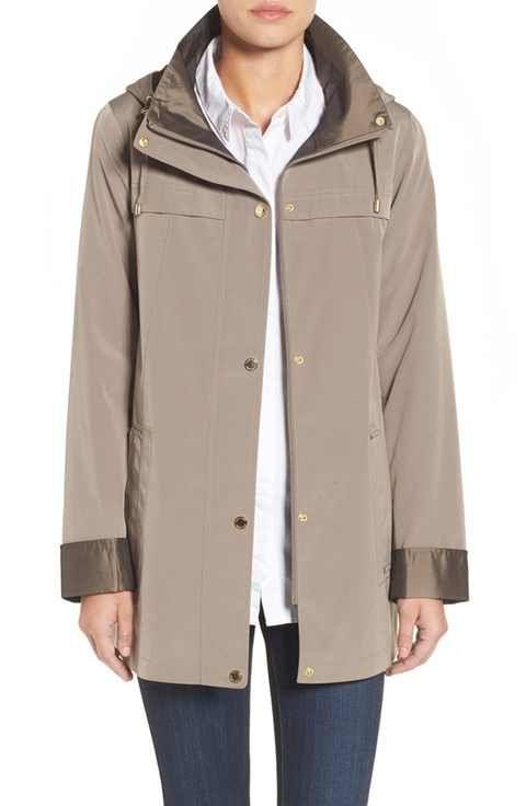 Gallery Silk Look Hooded Raincoat (Regular & Petite) | Jackets ...