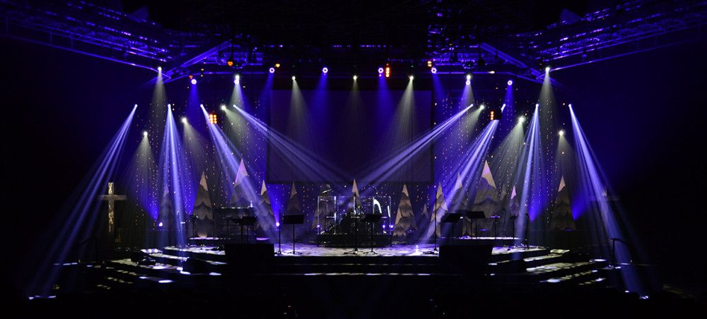 Flowing Trees Stage Design | Church Ideas | Pinterest ...