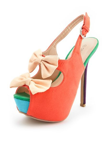 Sueded Double Bow Slingback Pump #CharlotteRusse