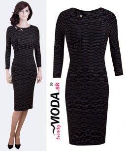c46e70457ed7 Elegantné čierne šaty pre moletky - trendymoda.sk