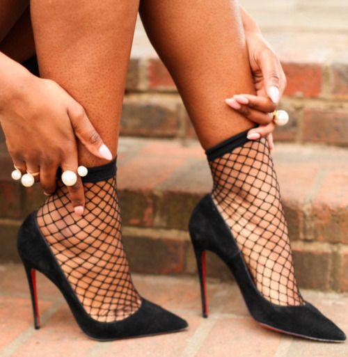 03e492b4cf2 yudie on in 2019 | Lady Boss | Socks, heels, Fishnet socks ...