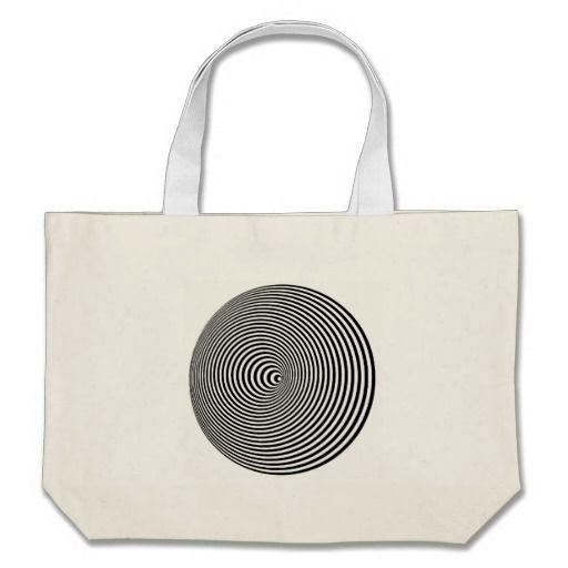 Concentric Illusion Large Tote Bag