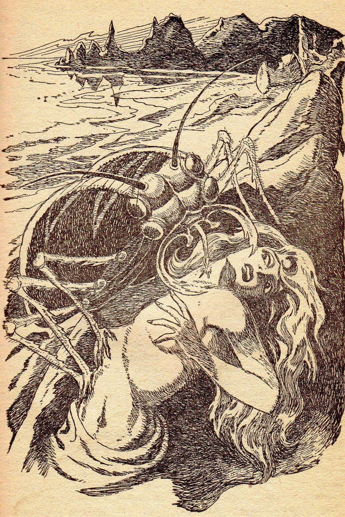 uncredited artist the mitr by jack vance vortex sf vol 1 no 1 1953 sword and sorcery vintage world maps science fiction