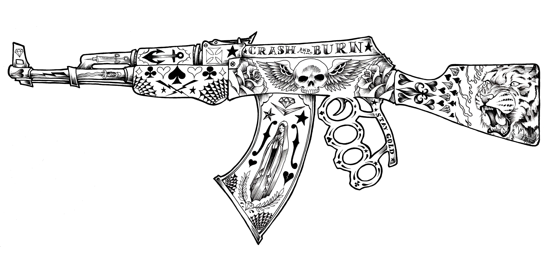 Крутые рисунки с оружием