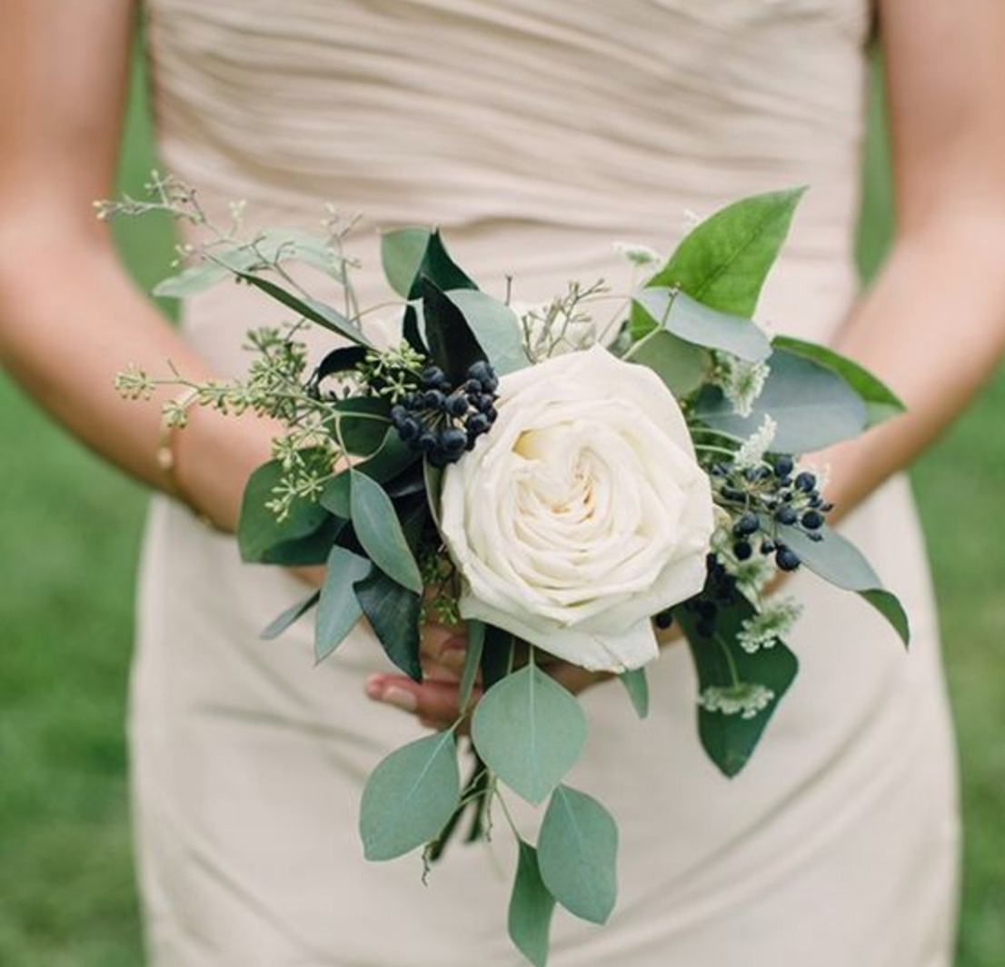 Idea by Mahogany Woods on Flowers | Small wedding bouquets, Rose bridesmaid bouquet, Simple ...