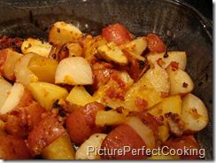Roasted Red Potatoes with Bacon & Cheese.