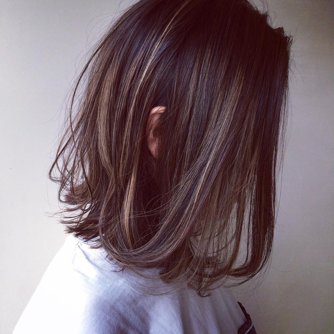 バッサリのお客様 ヘアスタイル Hair ハイライト ローライト