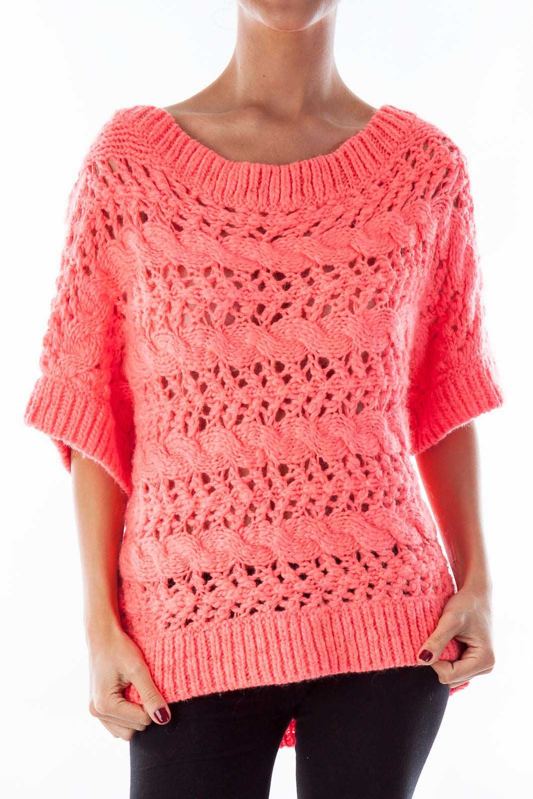 Preppy sweaters for all seasons hot pink short sleeve sweater by ...