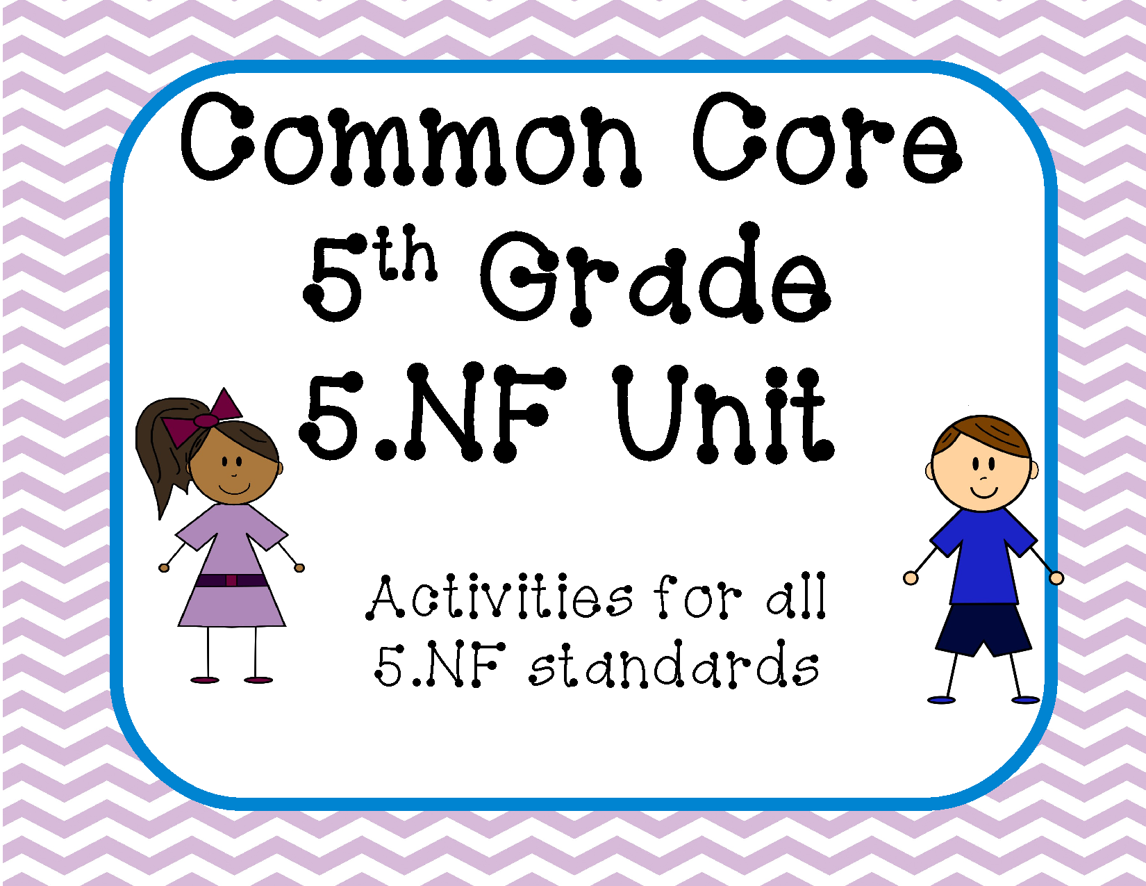 5 Ccss For Fractions 5th Grade Bundle Pack