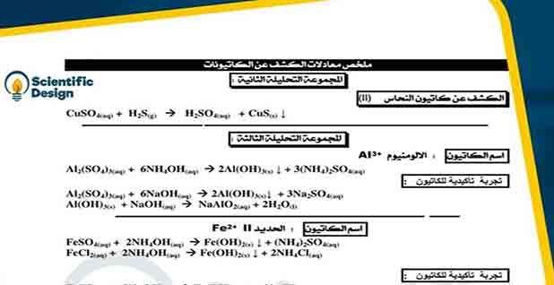 تلخيص لكل معادلات الكشف عن الكاتيونات في ورقة واحدة كيمياء الثالث الثانوى Airline Boarding Pass