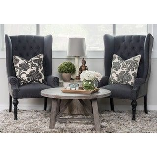 Kosas Home Eleanor Wingback Chair  Overstock Shopping  The Enchanting Wing Chairs For Living Room Design Decoration