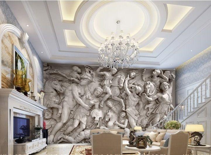 3D Wallpaper Greek Roman Statues Art Mural Wall Paper Background Custom Size