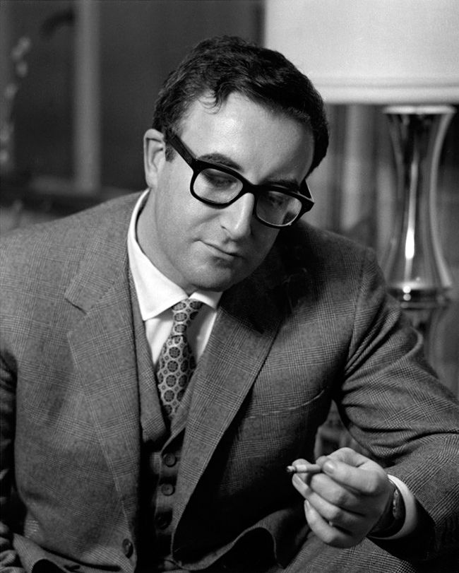 voxsart:  The Precisely Cut And Fitted Glen Check Vested Lounge. Peter Sellers, 1962.