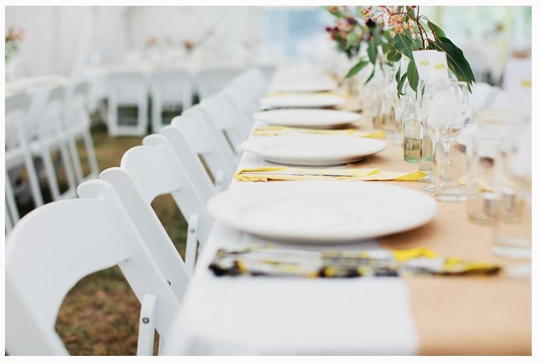 Gumtree Leaves Reception Decorations Farm Wedding Reception