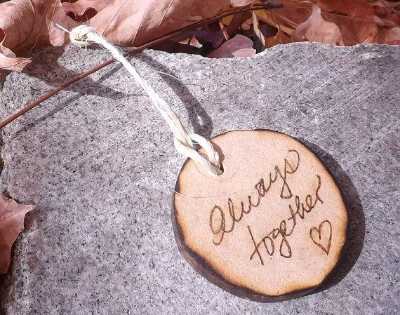 Circle Shaped Rustic  Wood  Wedding Favors by BVDesignsonline, $29.99
