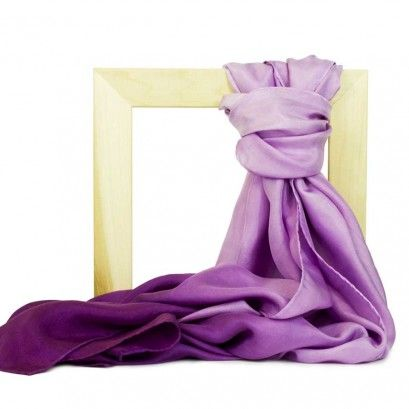 Radiant Orchid Tie Dye Silk Scarf - handmade by individuals with intellectual disabilities